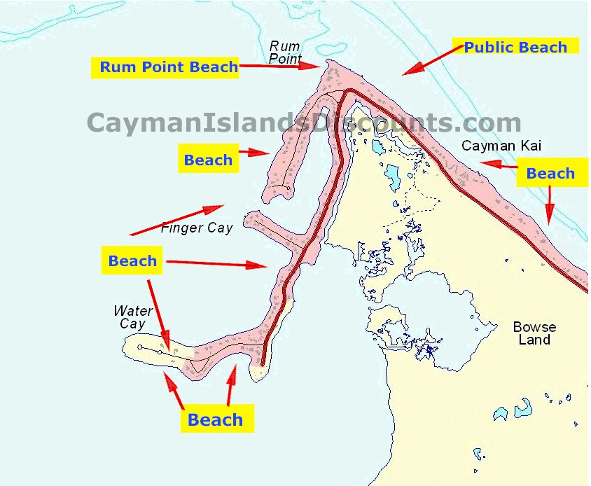 photograph relating to Printable Map of Grand Cayman referred to as Free of charge secluded seashores in just Grand Cayman, Cayman Islands versus