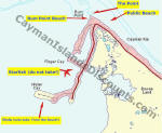 Grand Cayman Snorkeling Map and Directions for snorkeling sites
