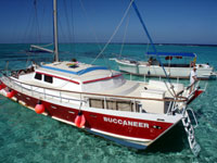 Buccaneer catamaran at stingray city
