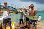 Family fishing in Grand Cayman