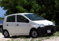 Grand Cayman Car Rentals with Cico Avis Rent A Car, Picture example of a sub compact Daihatzu Cuore rental car