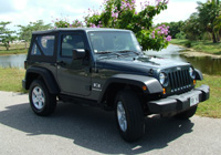 Grand Cayman Car Rentals with Cico Avis Rent A Car, Picture example of Jeep Wrangler 4.2 Sport 4X4 Soft Top rental car