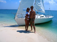 Beach stop on Grand Cayman Sailing tour
