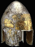 Antique silver helmet
